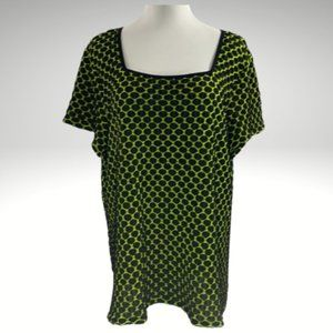 Cato Square Neck Short Sleeves Top Size 22/24W